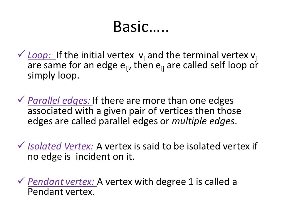 Graph theory unit ppt video online download loop if the initial vertex vi and the terminal vertex vj aloadofball Images