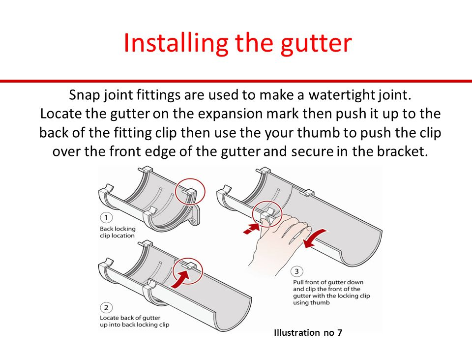 Expansion Joint Brackets : Installing guttering and rainwater systems ppt video