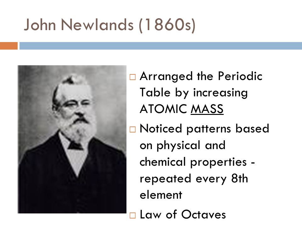 John Newlands Periodic Table Gallery Periodic Table Of Elements List