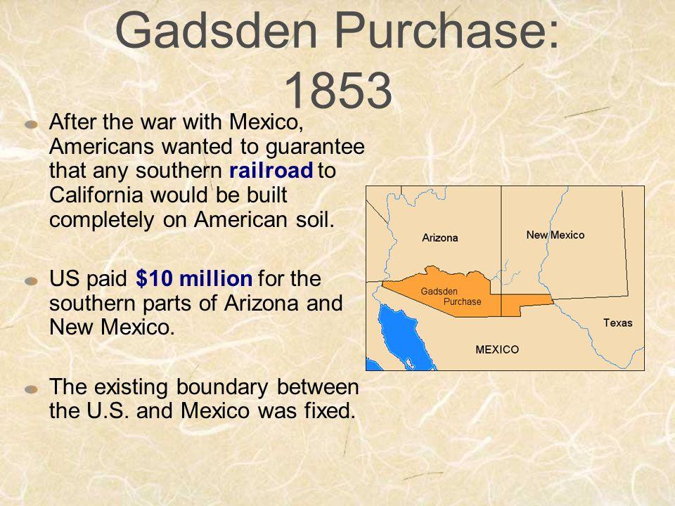 Gadsden purchase essay