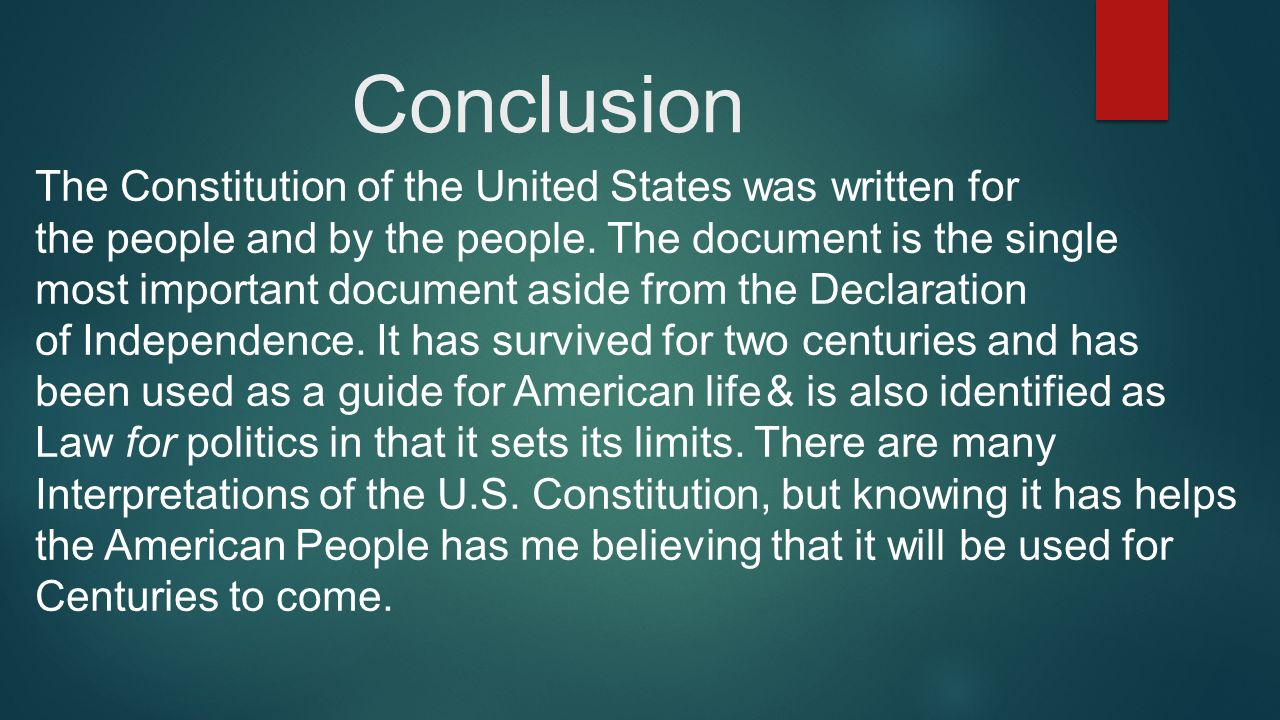 the united states constitution a living document essay This free history essay on essay: the united states constitution is perfect for history students to use as an example.