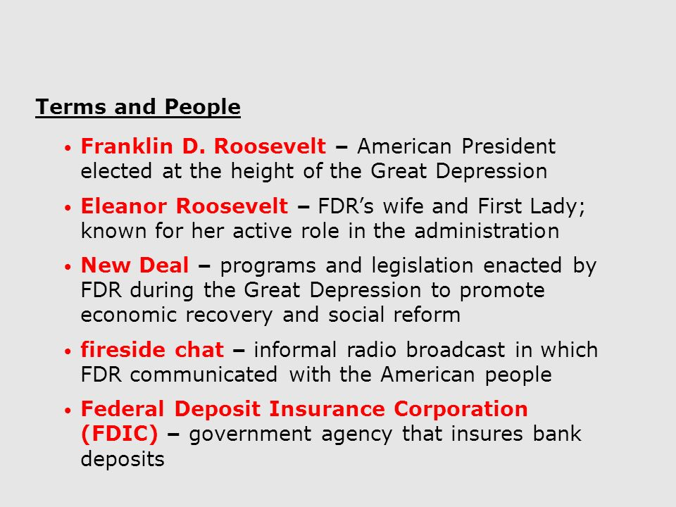 the great depression and the new deal essay Fdr's administration created the new deal in response to the great depression, the acts established in this new deal were effective in that federal government was more involved socially and economically, and provided assistance to the people of the us 2fdr's new deal programs in response to the great depression made the federal government.