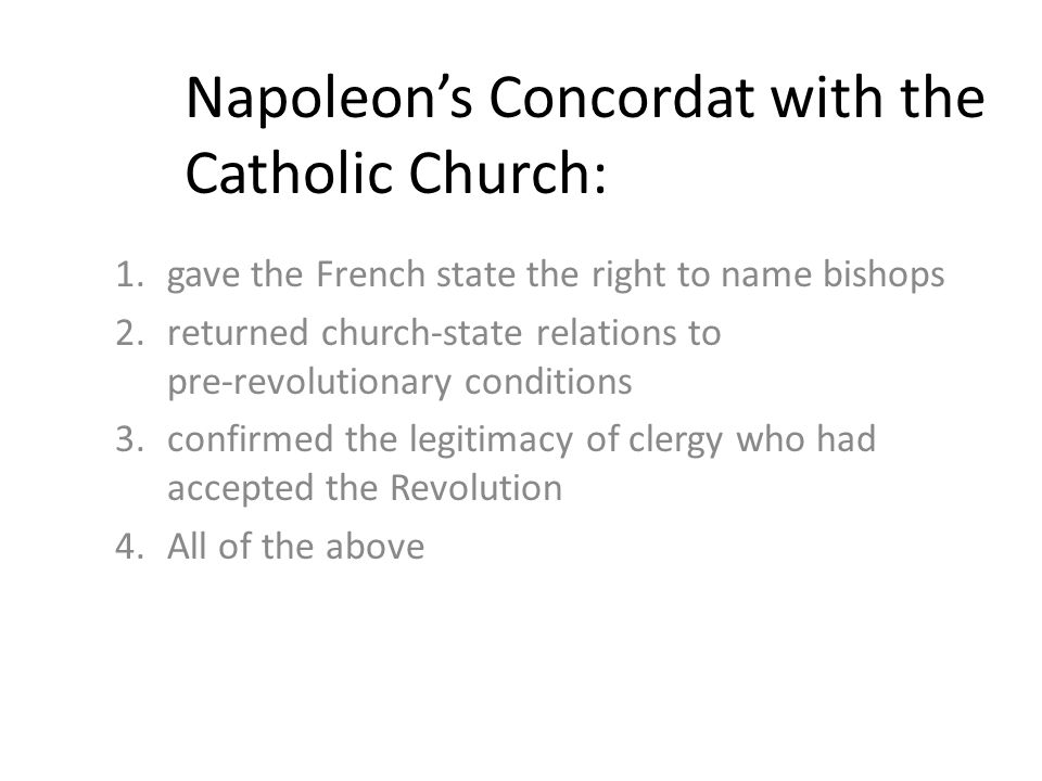 "napoleon bonaparte and the catholic church essay In his first substantial political maneuver napoleon bonaparte of restoring the catholic church to france, napoleon did not need ""an imperial revival."