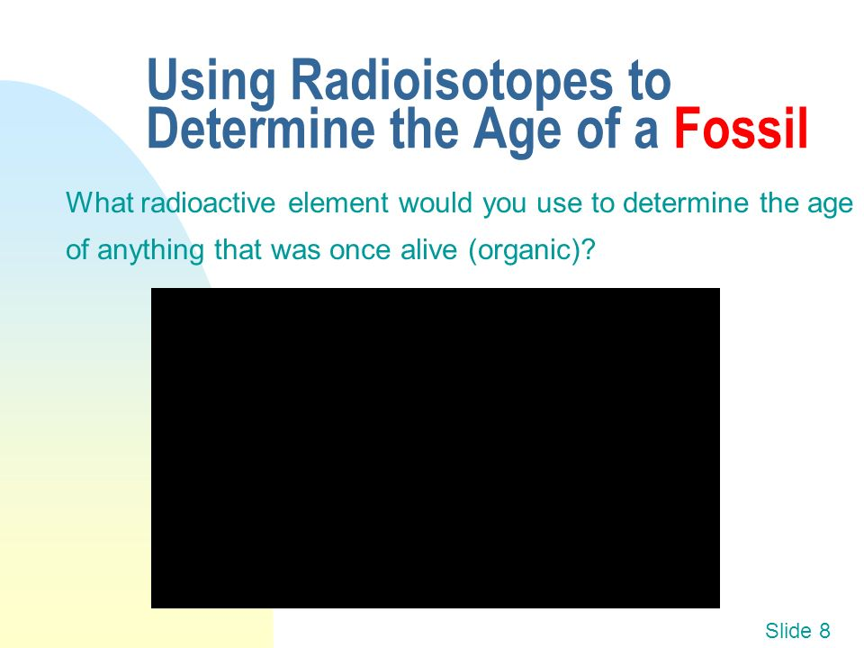 Fossil dating radioactive isotopes