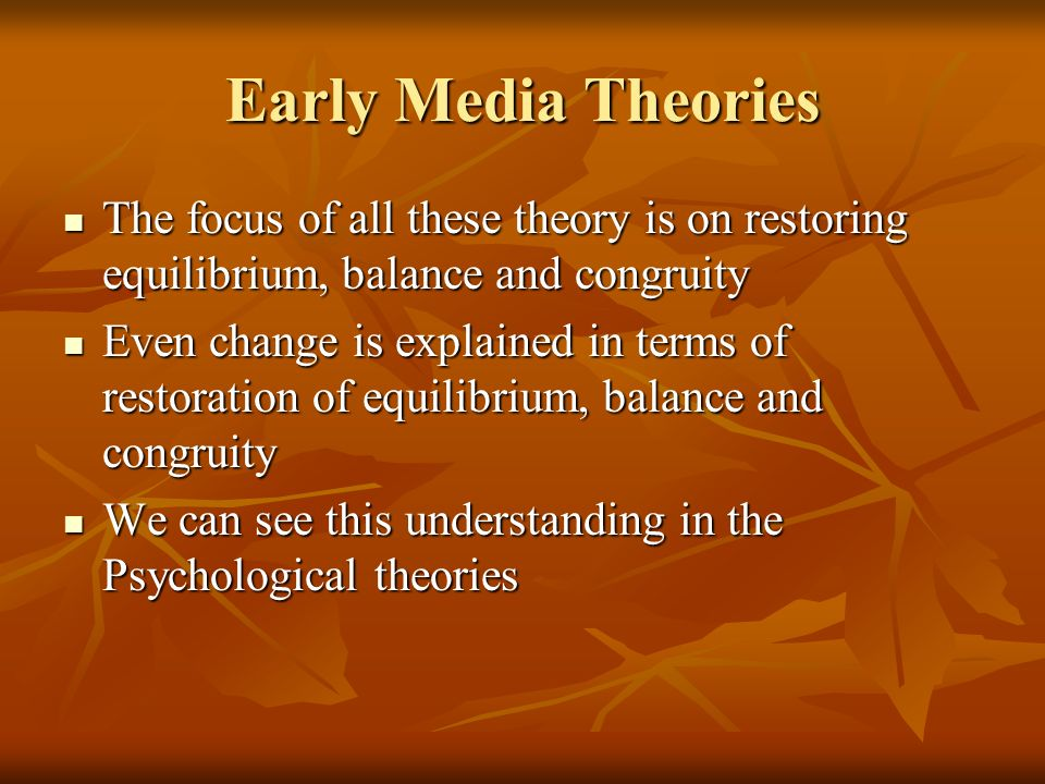 early media theories What places on your website and in your social media marketing have you used psychological persuasion which of these theories do you recognize, either in your own marketing or in the marketing of others.