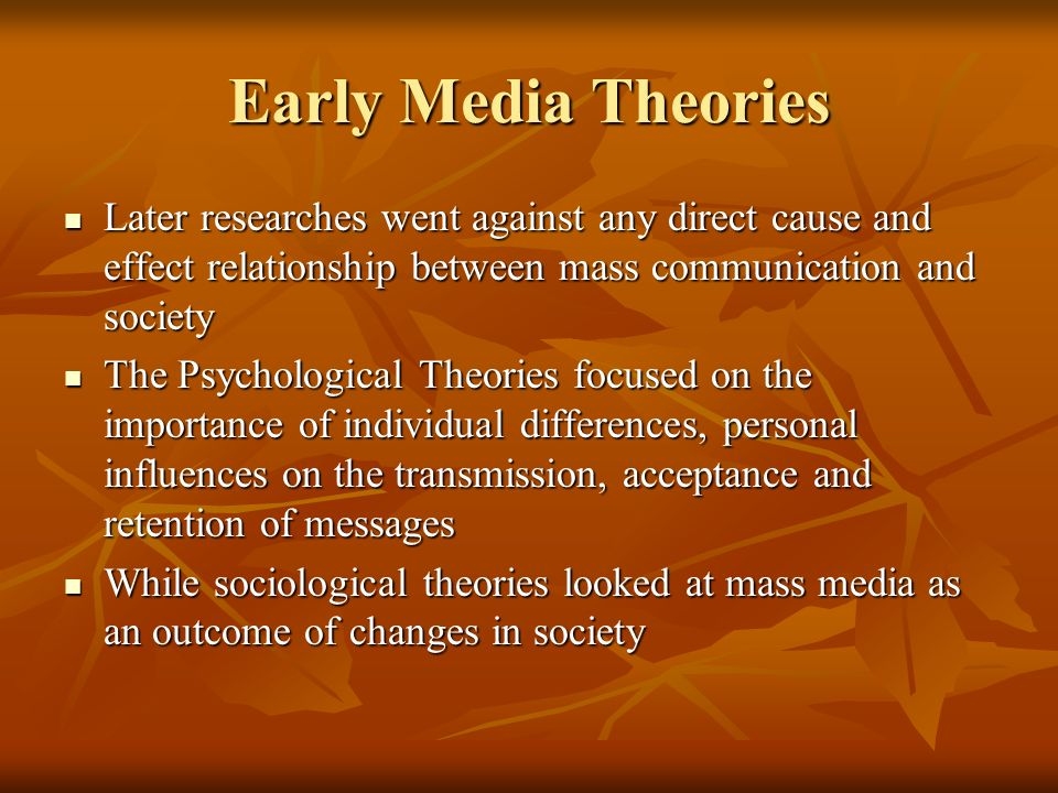an argument against the influence of mass media on society Essay on mass media  works to scrutinize and observe the surrounding by giving us information in the form of news about the goings-on in society the latest news .