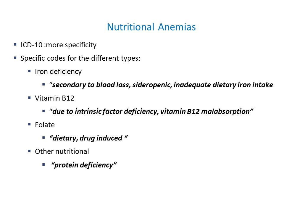 ICD-10 Education Session - ppt download of Icd 10 for vitamin b12 deficiency anemia