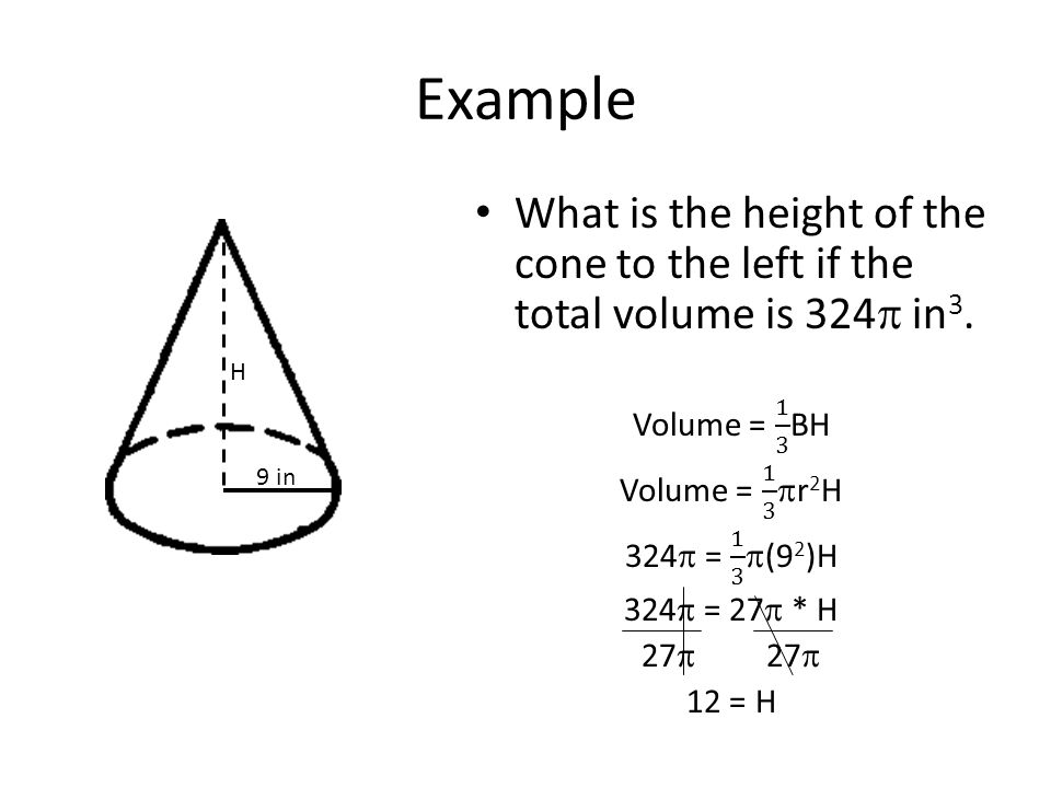how to find the volume of pyramids and cones