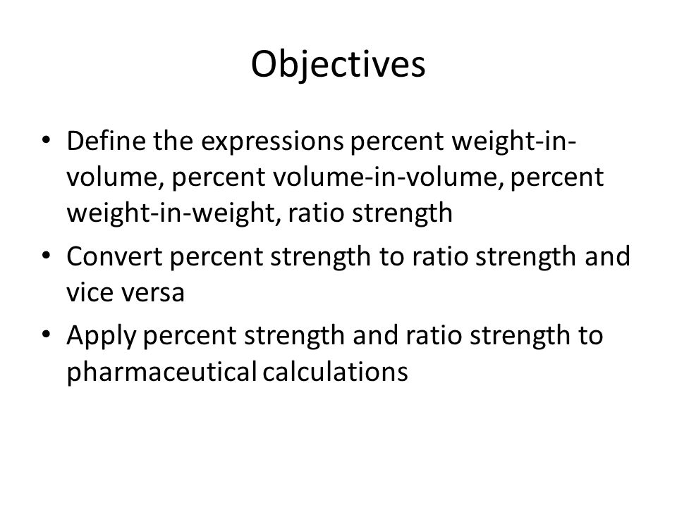 how to find volume percent from weight percent