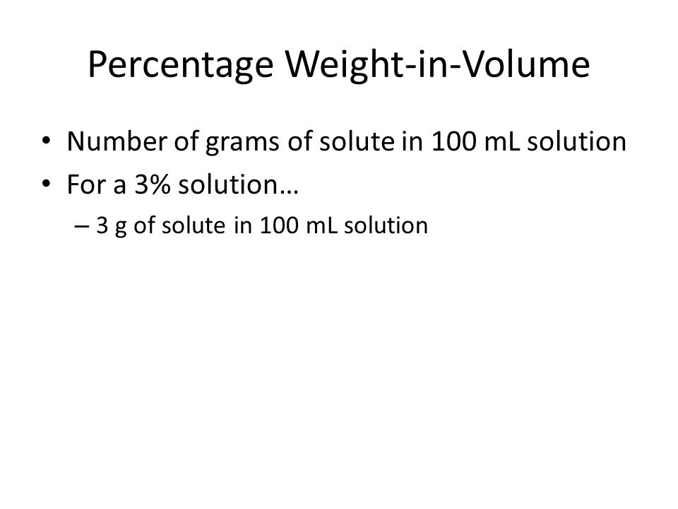 how to change weight percentage to volume percentage