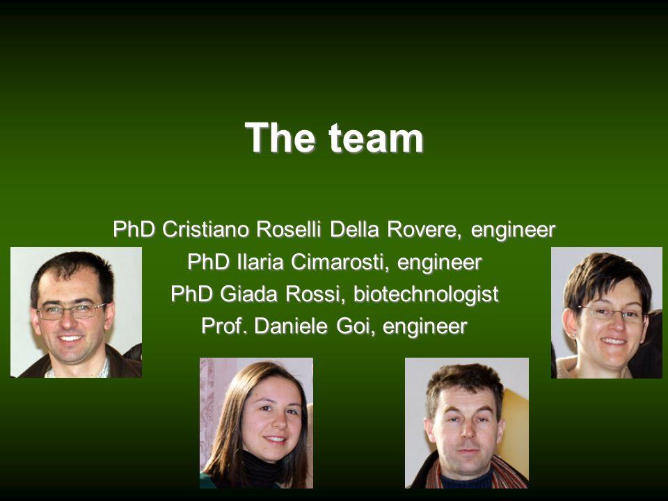 The team PhD Cristiano Roselli Della Rovere, engineer