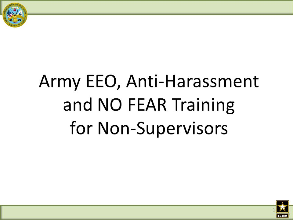 Eeo non-sexual harassment