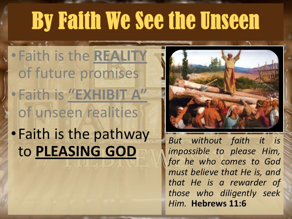 "christianity faith in the unseen Biblical ""faith"": to the yet unseen promises of god on the basis of what he had already or download the cold-case christianity app from the itunes store."