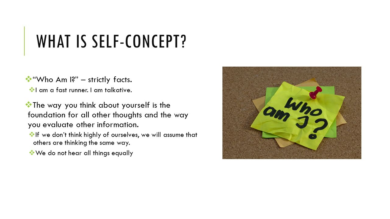 concept of self The self is a complex process of gaining self awareness we develop a concept of who we are through our interactions with others this view is expressed in pragmatic philosophy in the works of willliam james and george herbert mead, among others.