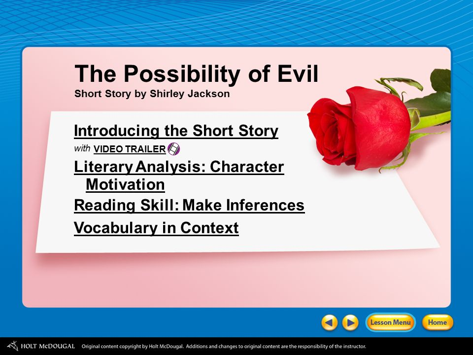 analysis of a short story what a thought by shirley jackson