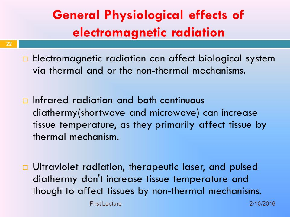 effects of electromagnetic radiation There are a huge number of scientific studies – in excess of 6,000 at the last  count – which have shown that rf radiation and microwaves are harmful to  humans.