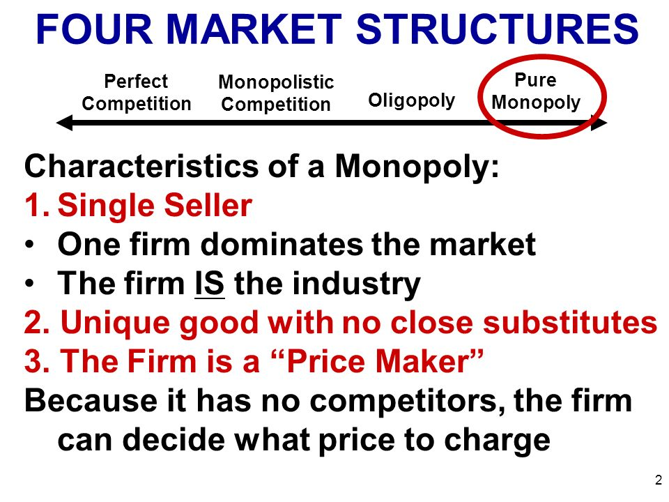 monopoly structure characteristics