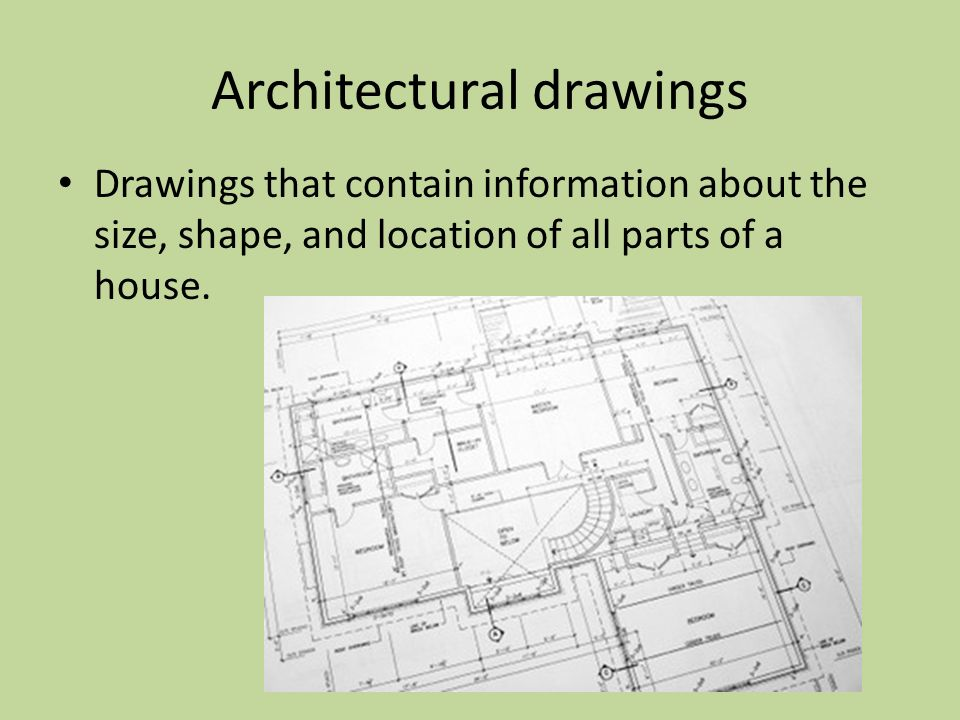 Architectural Drawing Sizes architectural drawing sizes drawings components of house plans ppt
