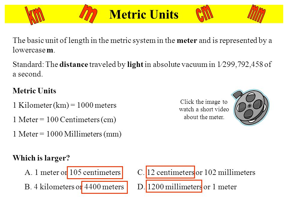 Lesson 1 Length Complete the worksheet while we discuss length – Metric System Worksheets