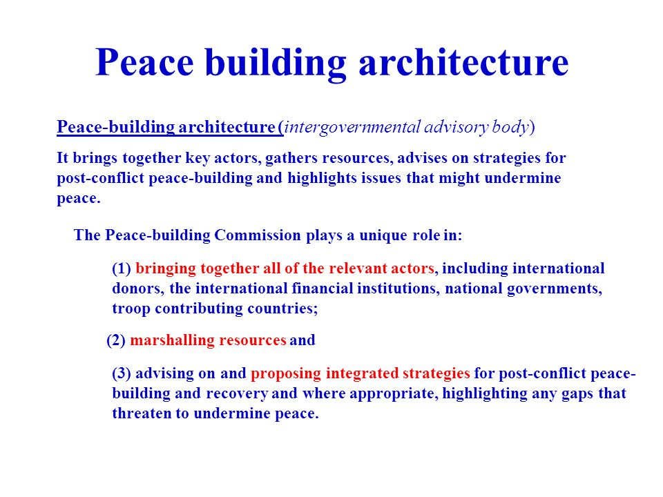 Peace-Building in Post-Conflict Societies