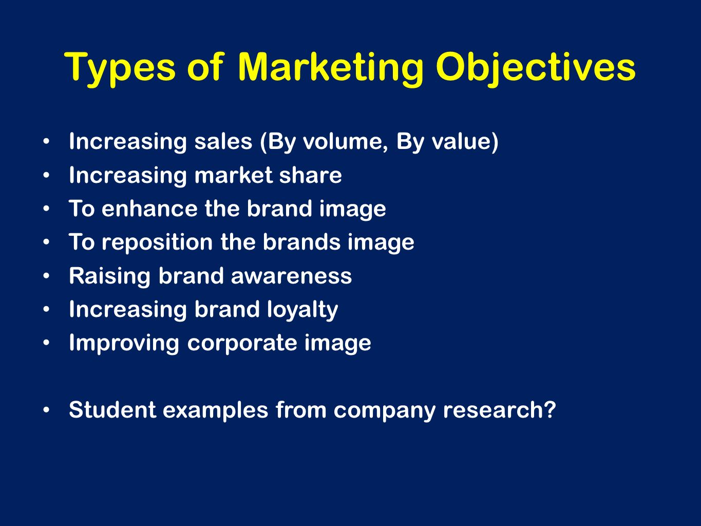 objectives of marketing research Market research is 'the process of collecting, analysing and presenting useful information about consumers' whilst marketing research takes a wider perspect.
