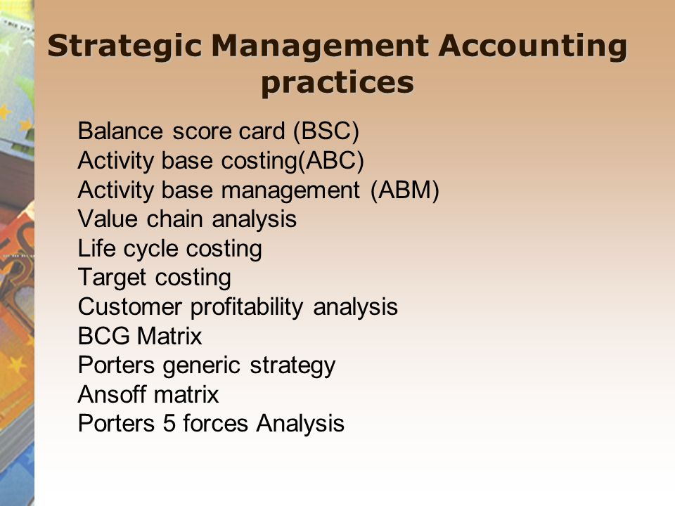 Strategic Management Accounting Ppt Video Online Download