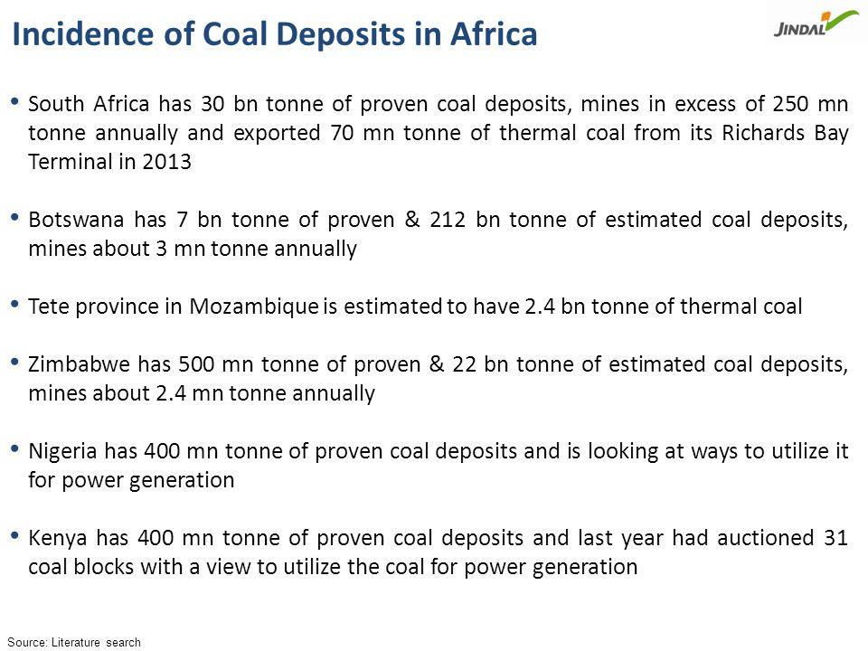 Coal Bearing Areas in Africa