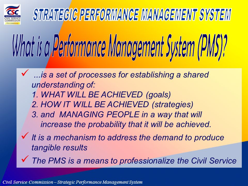 performance management system in the maurition civil service Keywords: performance management system, motivation, public sector journal  of  the mauritian civil service (mcs) began during the.