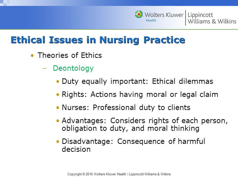 deontological ethics examples in nursing