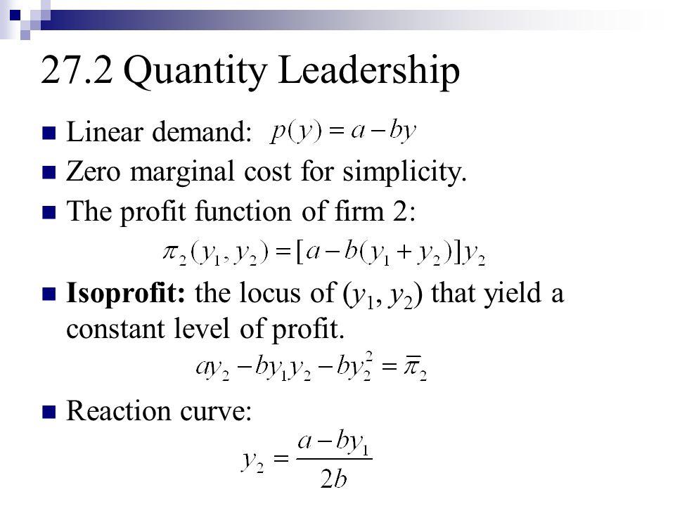 quantity leadership oligopoly