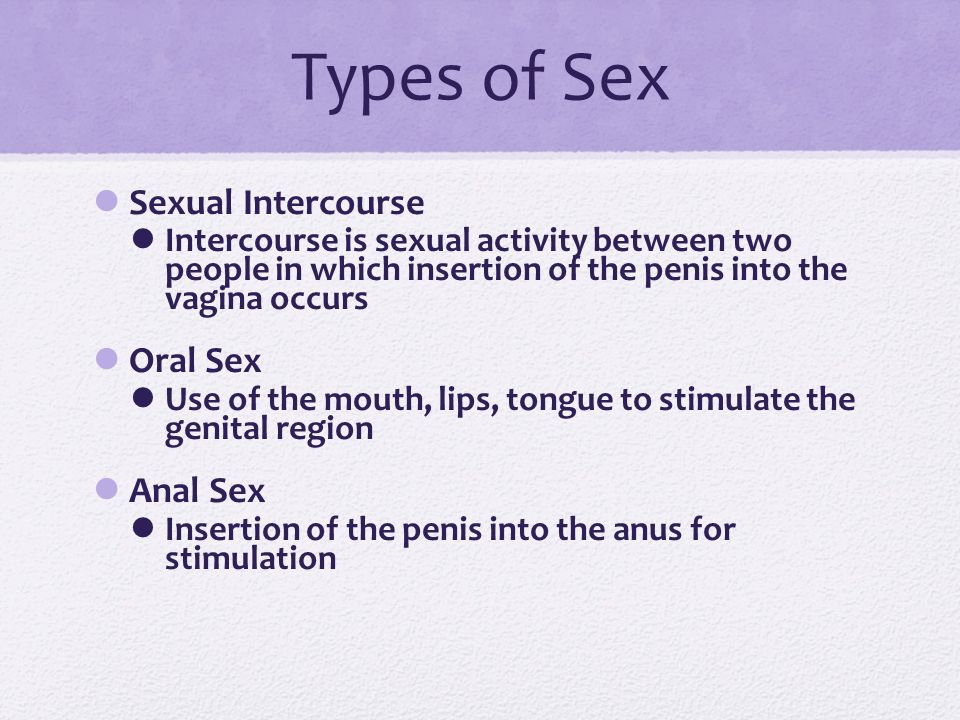 types of anal sex