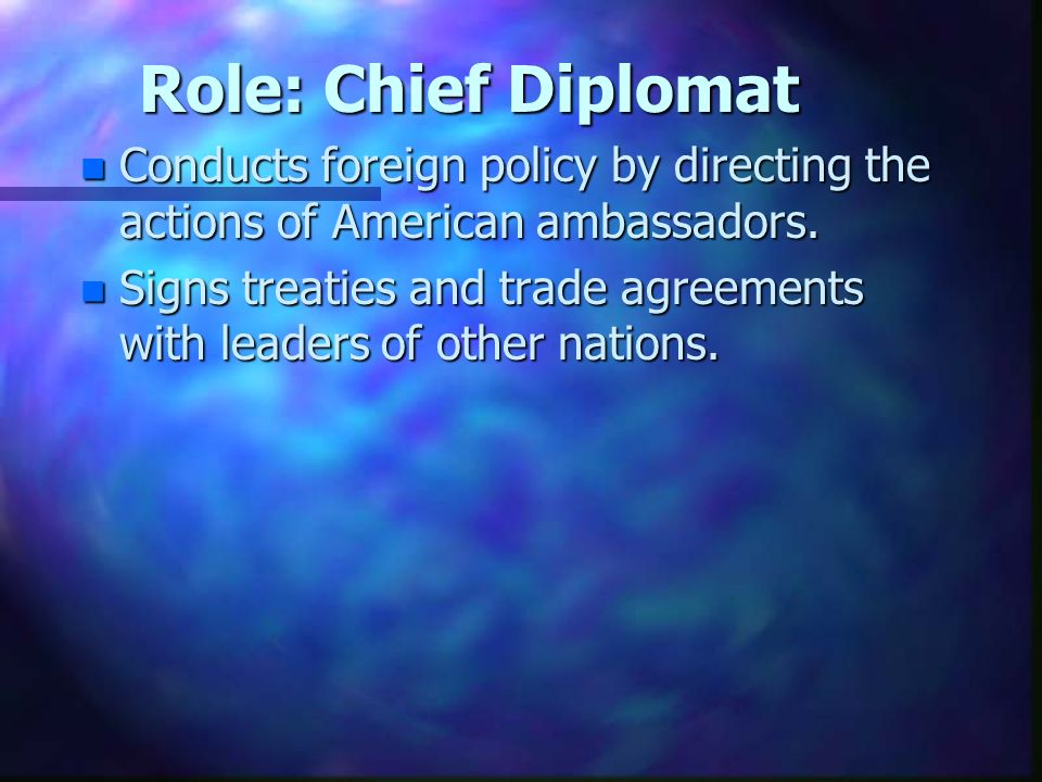 the duties of the diplomat The diplomat has published interviews with many prominent public figures, including ali allawi, anwar ibrahim, ian macfarlane, brent scowcroft, mike moore, jason yuan, kim beazley, wegger christian strømmen, shankar prasad sharma, and jaliya wickramasuriya.
