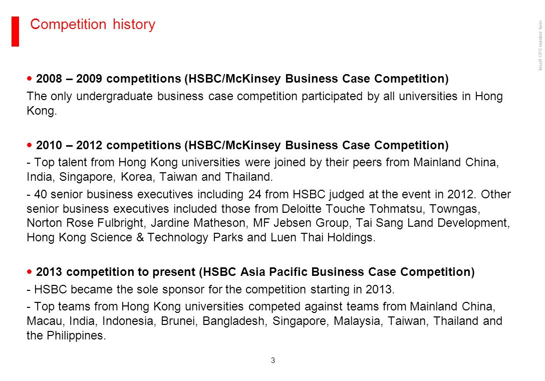 HSBC BUSINESS CASE COMPETITION PLAN FOR LOCAL COMPETITION ...