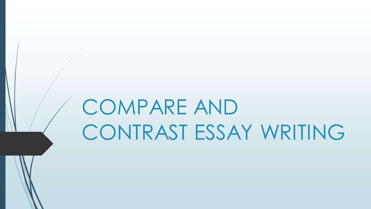 What are some important things to consider when writing a comparecontrast essay