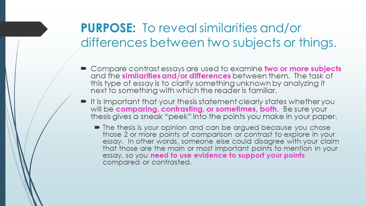 what are the most important things to remember when writing a compare and contrast essay