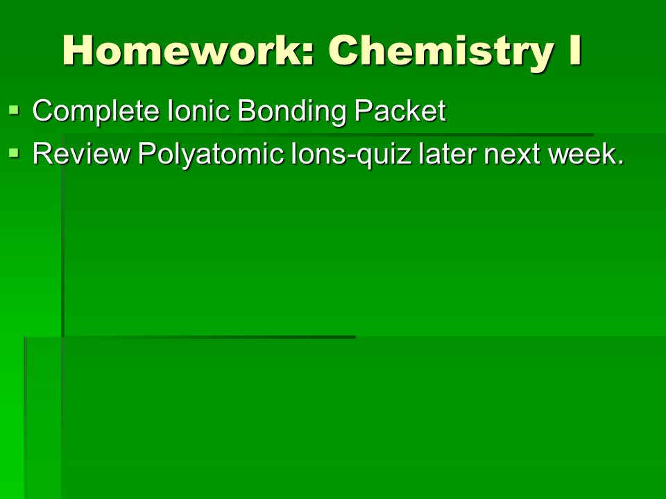 Chemical Bonding Due Classroom Rules Contract Review Ppt Video