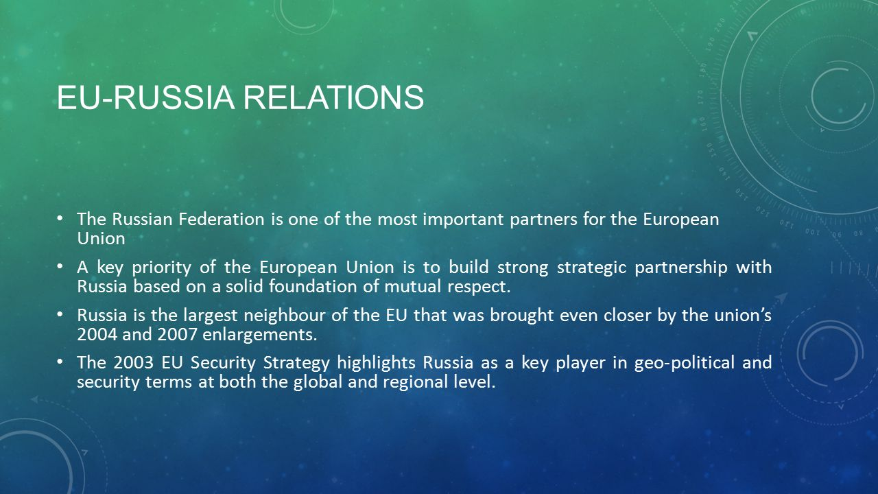 eu russia relations mutual dependence in a Best up-to-date options for regulating eu-russia energy relations with strong   strong mutual dependency and common interest in the energy sector, this is.