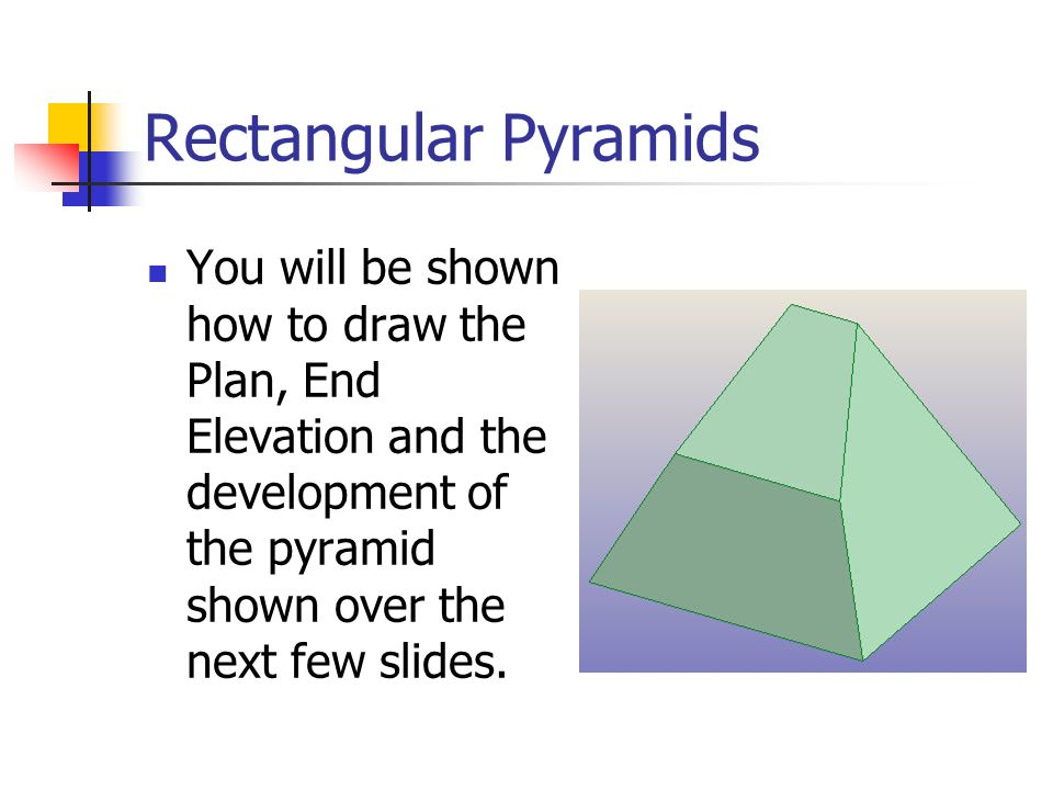 how to draw a square pyramid