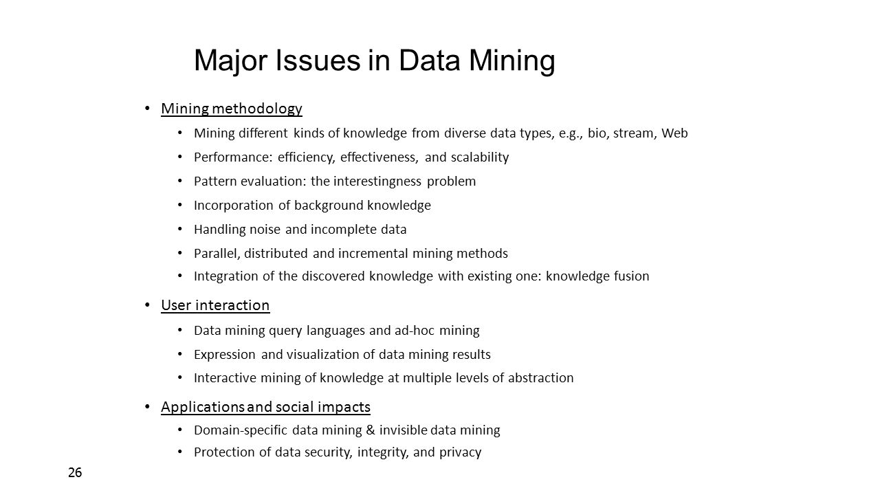 Data mining process-related problems