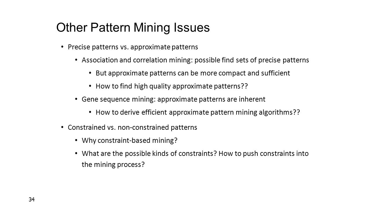Other Pattern Mining Issues