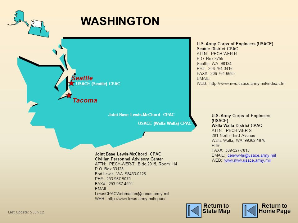 Washington Seattle Tacoma Return To State Map Return To Home Page