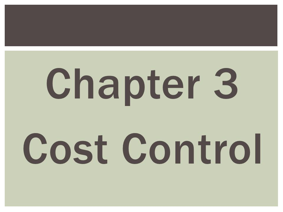 Chapter 3 cost control. Ppt video online download.