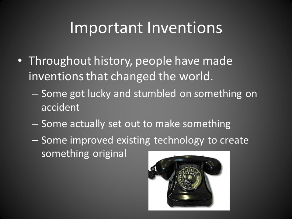 an important invention