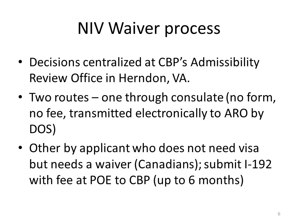 Waivers of Inadmissibility for Nonimmigrants - ppt download
