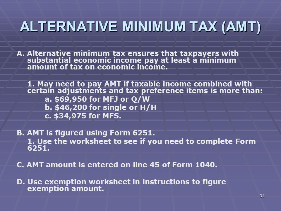Iso stock options tax amt