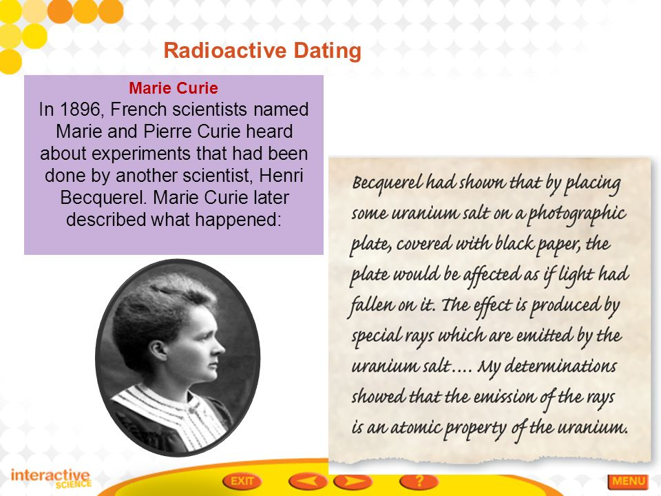 Radioactive dating failure