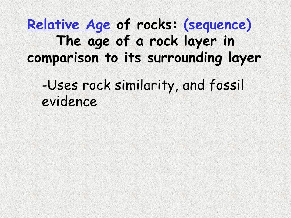 I can describe methods used to assign ppt download – Relative Ages of Rocks Worksheet