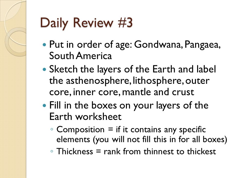 Daily Review 1 What happens in radioactive decay Define half – Pangaea Worksheet