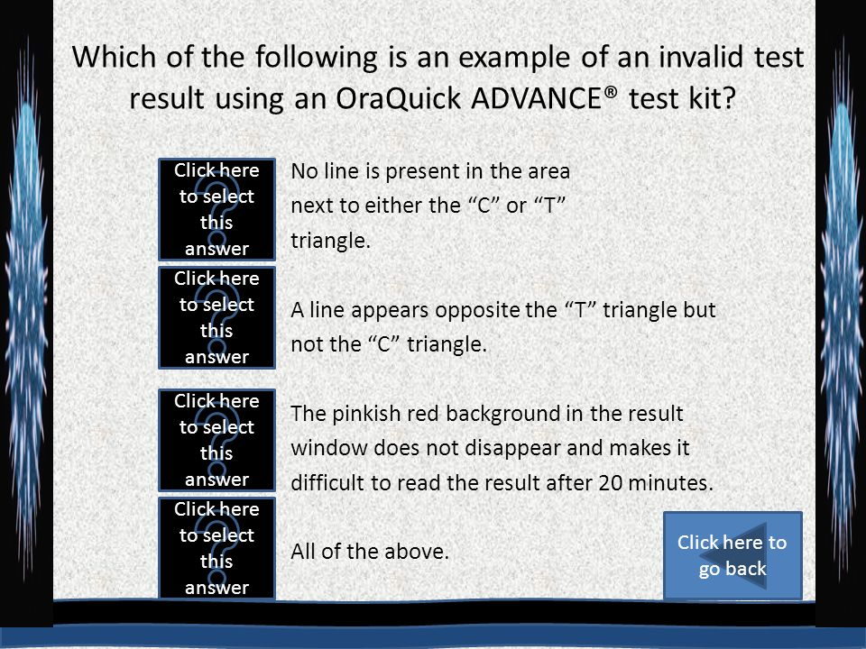 how to read oraquick results