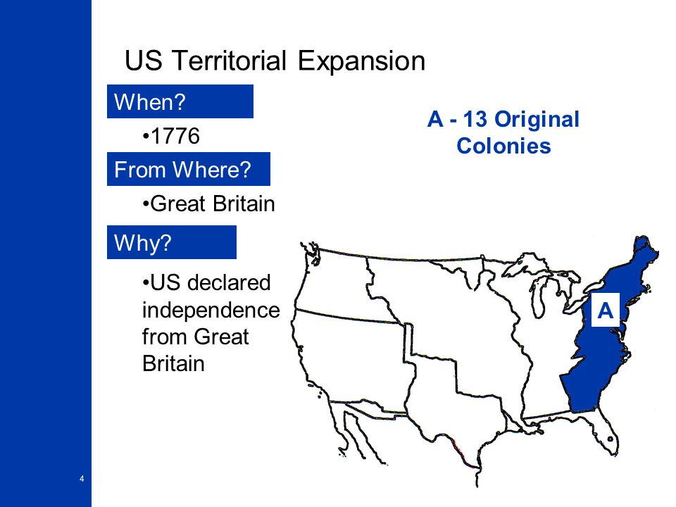 Map Of United States Circa Ppt Download - Us territory map the original 13 colonies